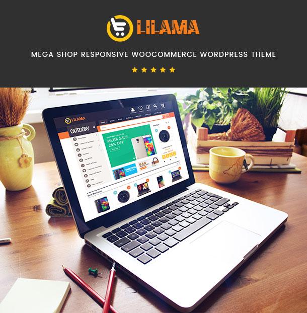 Фото Шаблон Wordpress платный  VG Lilama - Mega Shop Responsive WooCommerce Theme — 01 lilama