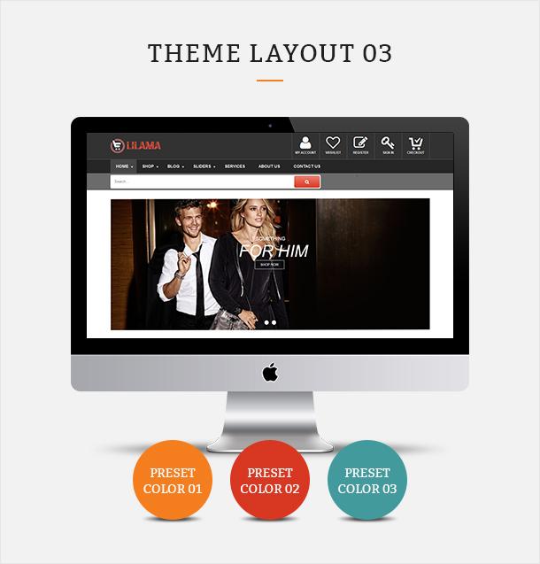 Фото Шаблон Wordpress платный  VG Lilama - Mega Shop Responsive WooCommerce Theme — 02 lilama 03