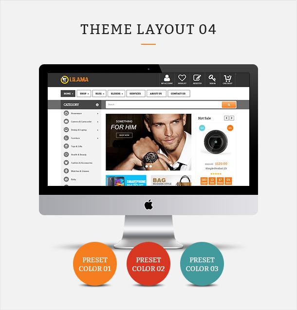 Фото Шаблон Wordpress платный  VG Lilama - Mega Shop Responsive WooCommerce Theme — 02 lilama 04