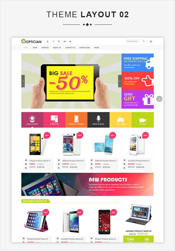 VG Optician - Responsive eCommerce WordPress Theme - 7