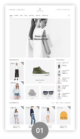 Фото Wordpress премиум шаблон  VG Sassy Girl - Responsive WooCommerce WordPress Theme — 02 sassygirl 01