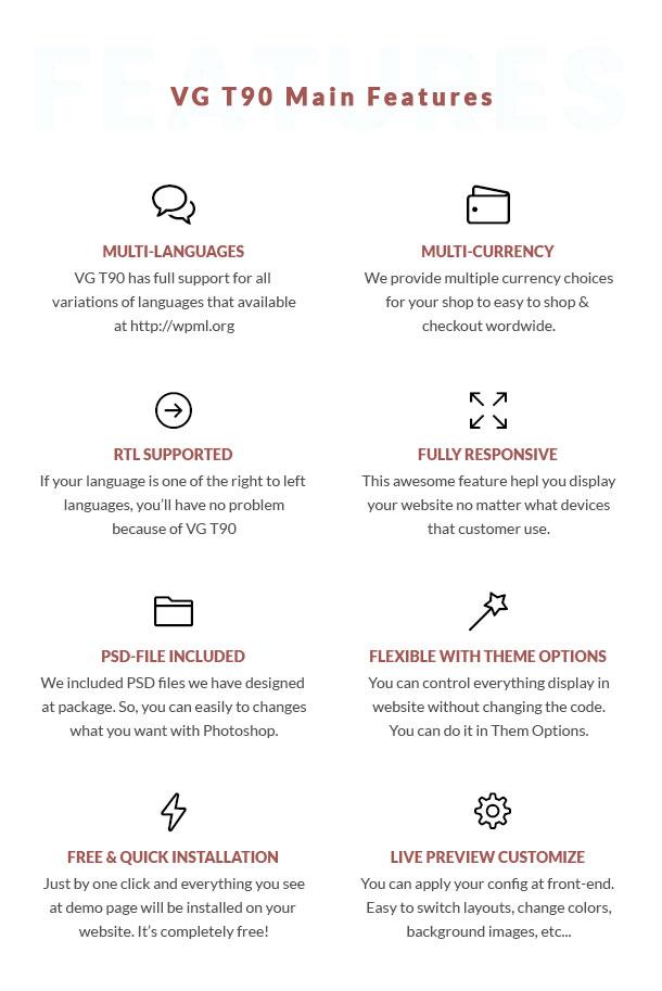 VG T90 - Clean, Minimalist WooCommerce WordPress Theme - 18